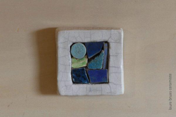tableau céramique type patchwork mosaique