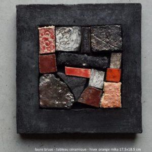 Tableaux céramiques fait de pièces de céramiques assemblées après cuisson dans un cadre en raku