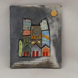 Tableau ceramique cathédrale